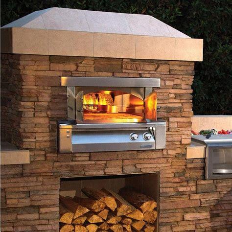 alfresco axepzabing   pizza oven  built