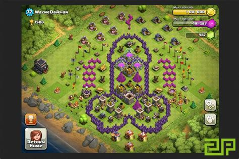 coc unique layout 17 best images about clash of clans base on pinterest