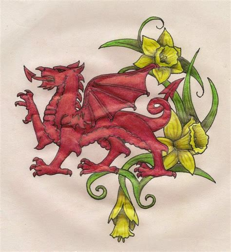 welsh tribal tattoos daffodils tribal tat inspiration