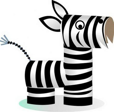 zebra pattern for preschoolers 60 homemade animal themed toilet paper roll crafts hative