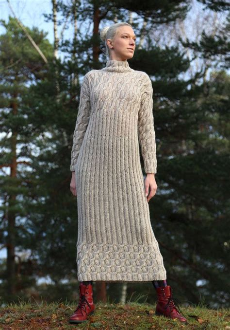 knitting dress instant pdf pattern knitted dress with