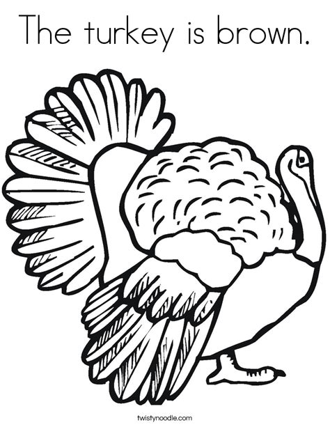 coloring pages color brown the turkey is brown coloring page twisty noodle