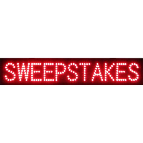 The Sweepstakes - sweepstakes led sign 5swled neonetics