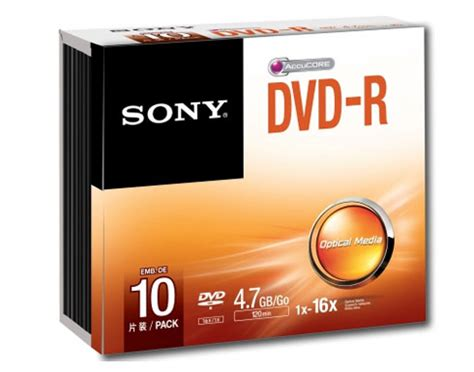 Dvd Kosong Sony Dvd R 16x sony dvd r blank disc 10pcs with slim 4 7gb 120min 16x recording media micro cell agency
