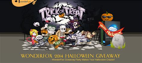 Giveaway Software 2014 - wonderfox 2014 halloween giveaway party megaleecher net