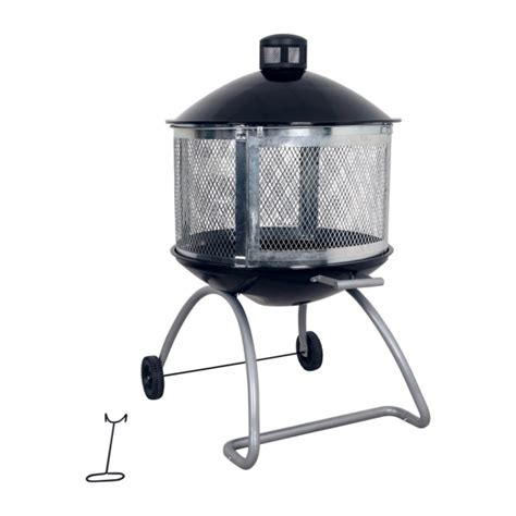pits on wheels delightful living accents 28in steel black firepit at ace