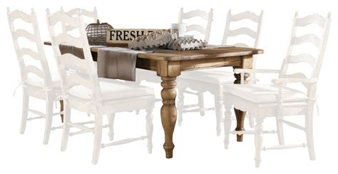 Kincaid Homecoming Solid Wood Farmhouse Leg Dining Table   kincaid homecoming solid wood farmhouse leg table in