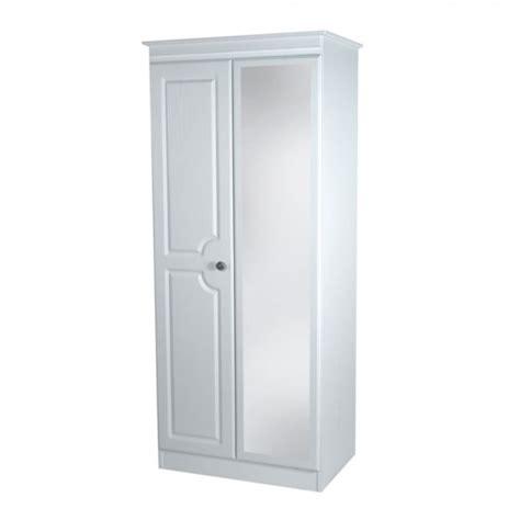 Narrow Mirrored Wardrobe Snowdon 2 Door Narrow Mirrored Wardrobe In Various