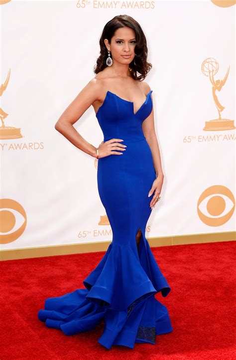 Emmys Fashion Goes White And Blue by 2013 Emmy Carpet Best Worst Dressed The Fashion