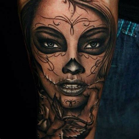 tattoo nightmares day of the dead day of the dead tattoo color of lips and highlighting is