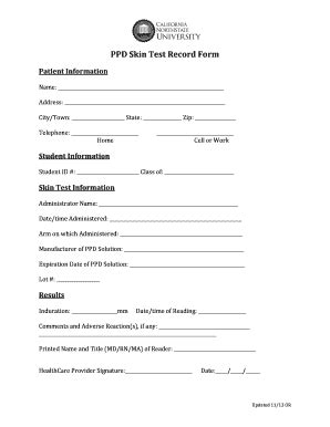 Ppd Skin Test Form Pdf Pictures To Pin On Pinterest Pinsdaddy Tb Skin Test Form Template