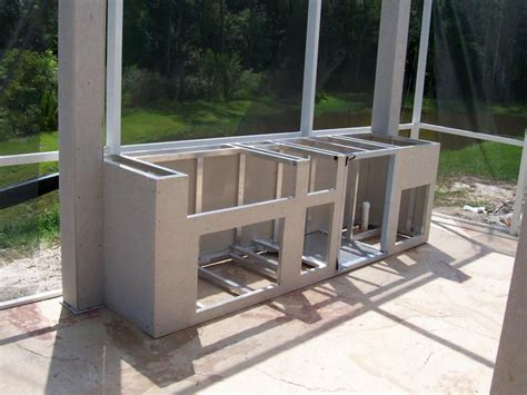 How To Build A Outdoor Kitchen Island Chic Frames For Outdoor Kitchens With Steel Stud For