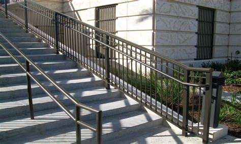 Exterior Stair Handrails Iron Railings For Stairs Exterior Exterior Aluminum Stair