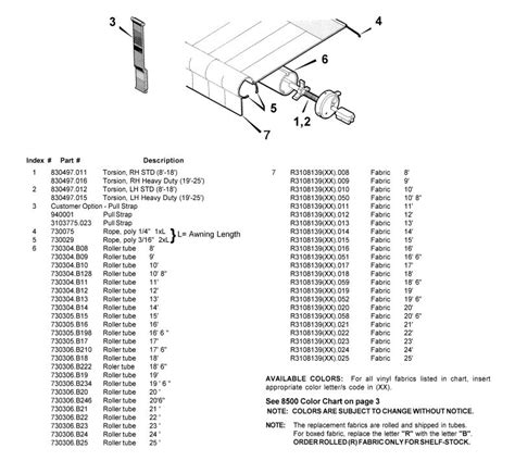 A E 8500 Awning Parts Diagram Pictures To Pin On Pinterest Pinsdaddy