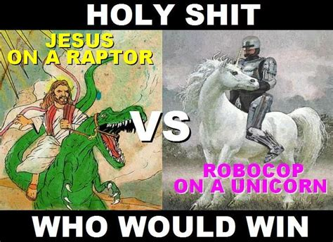 Unicorn Meme - image 94044 robocop on a unicorn know your meme