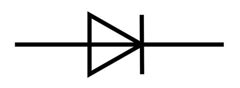 symbol of diode and its polarity diode polarity symbol clipart best