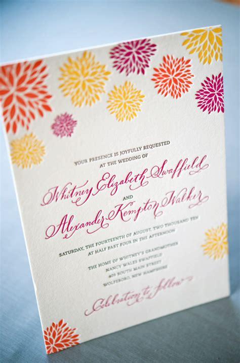 colorful wedding invitations a k s colorful letterpress wedding invitations