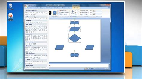 How To Make A Flow Chart In Powerpoint 2007 Youtube How To Make A Flowchart In Powerpoint