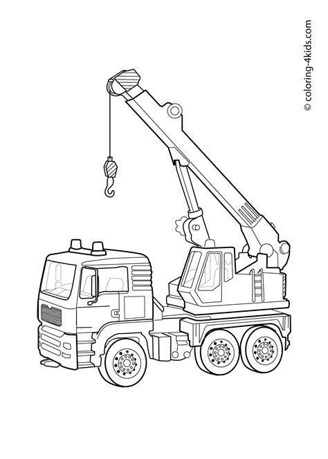 coloring page crane truck to crane coloring pages