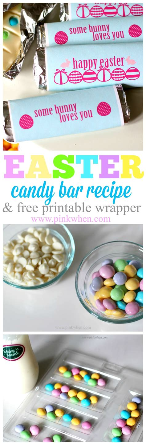 printable bar recipes easter candy bar recipe and printable wrapper pinkwhen