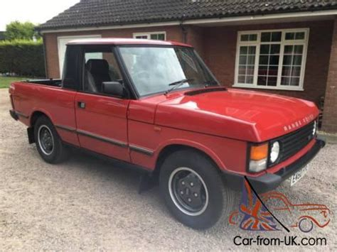 range rover pickup conversion 1987 range rover classic pick up truck conversion 3 5 v8 rare