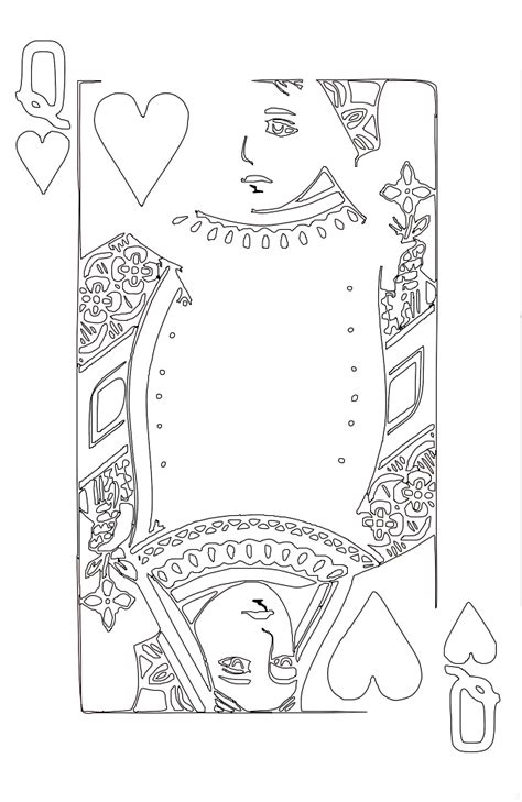 coloring page queen of hearts queen of hearts lineart coloring pageshello coloring