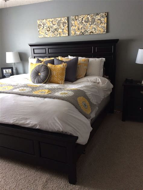 grey yellow and black bedroom bedroom yellow and gray rooms decor inspiration