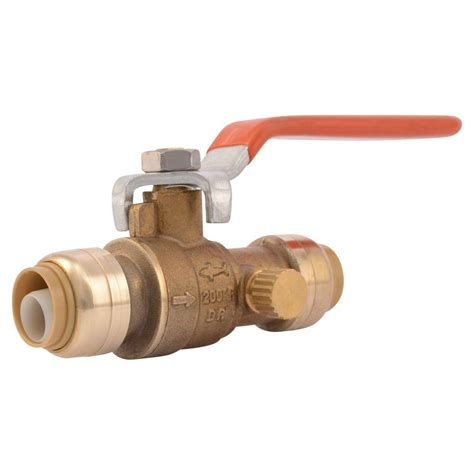 Shark Valve Plumbing by Sharkbite 1 2 In Brass Push To Connect Valve With