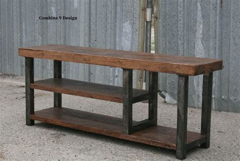industrial style bench buy a custom made rustic urban bench with storage