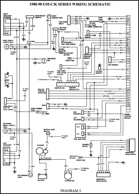 1988 98 gmc k series wiring schematics wiring diagram