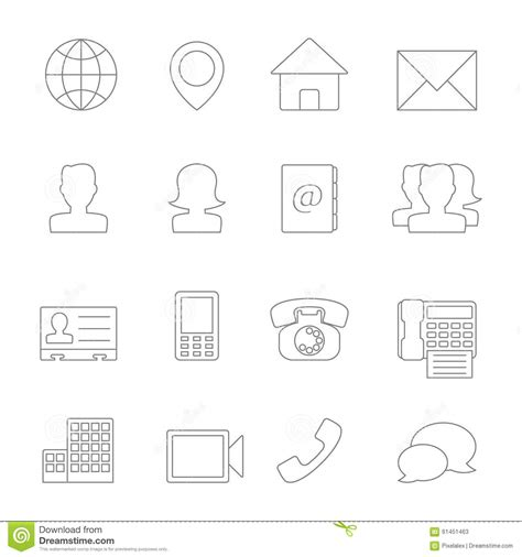 eps format line contact icons line stock photo image 61451463
