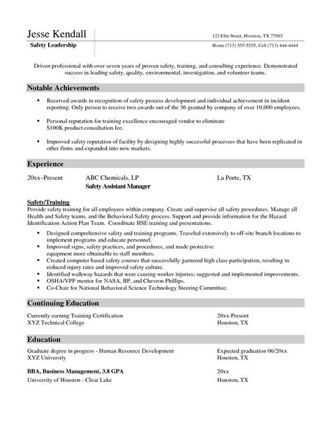 Safety Manager Resume by Assistant Nursing Home Administrator Resume Sales Nursing Lewesmr