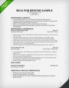 Cover Letter Sle For Real Estate by Real Estate Resume Writing Guide Resume Genius