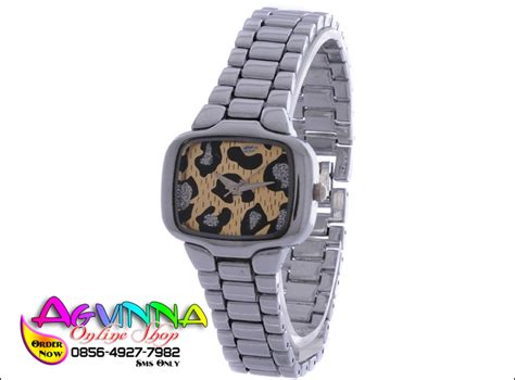 Jam Tangan Qs 6678 5 by Noxin Square Silver With Accent Silver