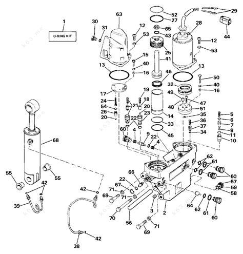 Evinrude 1987 225 E225pxcub Power Trim Tilt Hydraulic