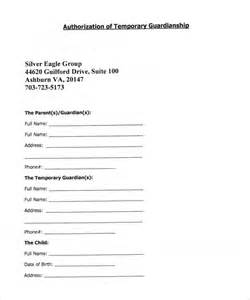 Free Guardianship Template sle temporary guardianship form 8 documents