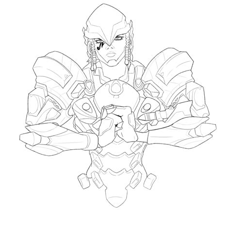 overwatch coloring book 1945683066 overwatch pharah linework by starxvii on newgrounds