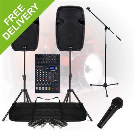 Kit Mixer 6ch Complete Band Live Stage Pa Sound System 800w 6ch Mixer