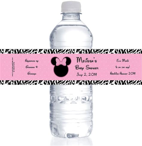 Minnie Mouse Personalized Water Bottle Labels minnie mouse personalized water bottle labels baby