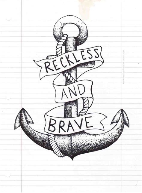 anchor tattoo tumblr anchor drawing www pixshark images