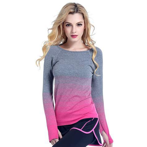Lq 12 Blouse womens sports shirt tops fitness running sleeve t shirt ebay