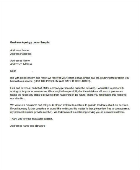 Business Letter Of Apology Definition exles of apology letters enwurf csat co