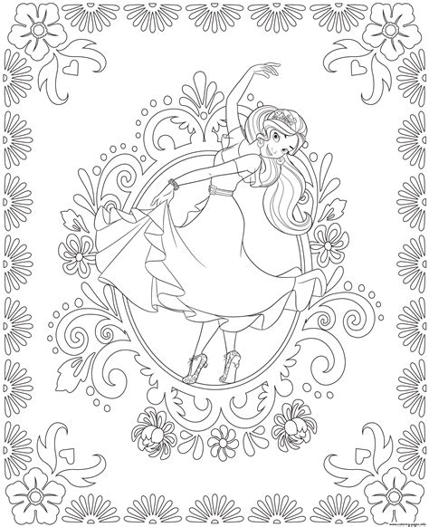 coloring book pages to print elena of avalor colouring page dance coloring pages printable