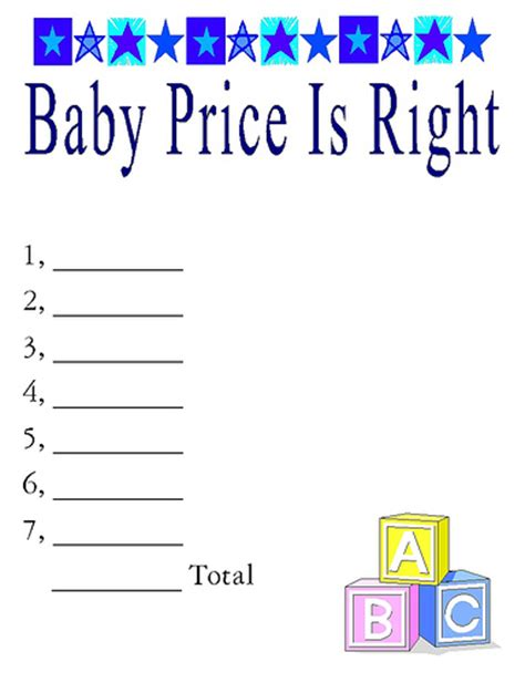 price is right baby shower template baby price is right flickr photo
