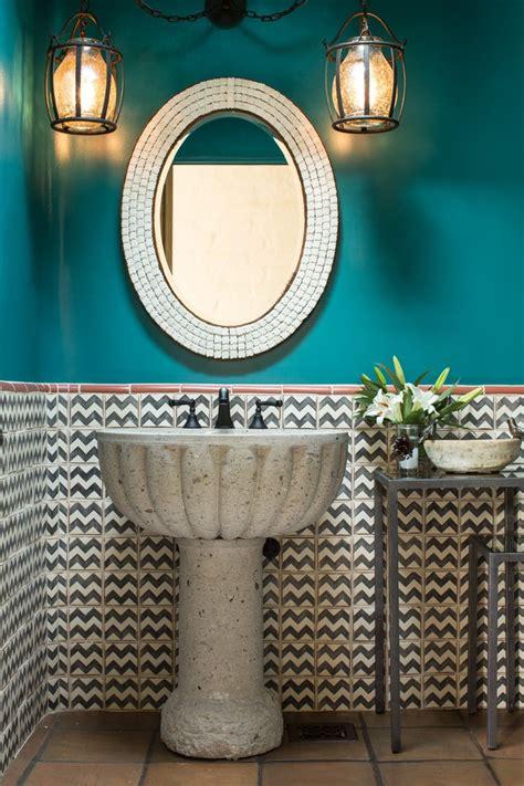 modern pedestal sink powder room rustic  hole bathroom