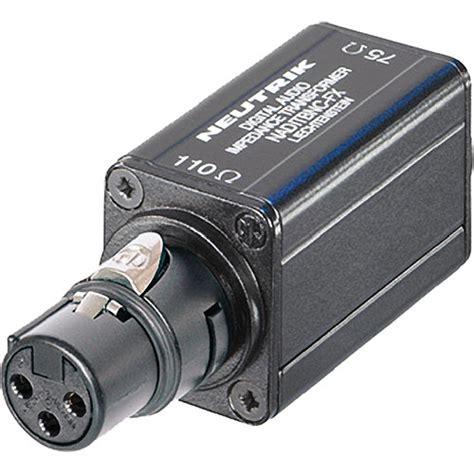 transformer impedance to ohms neutrik aes ebu digital impedance transformer naditbnc fx b h