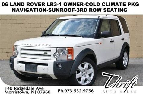 purchase used 06 land rover lr3 1 owner cold climate pkg