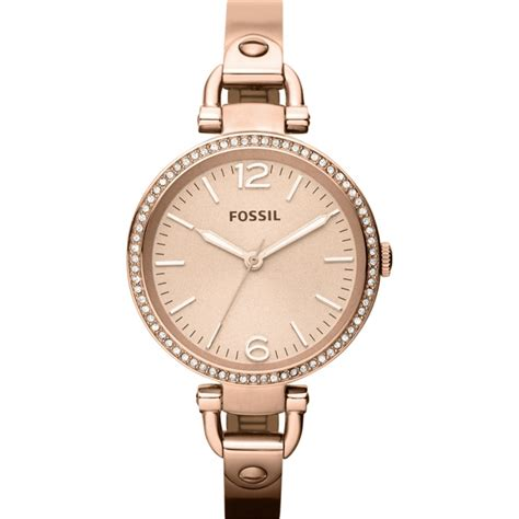 Fossil Rantai Rosegold Cover Black es3226 fossil watches2u