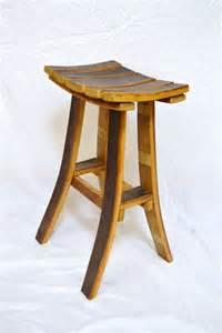 wine barrel stave tasting bar stool by wineyguys on etsy