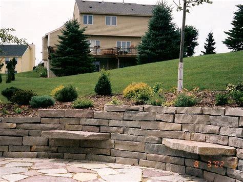 Hardscape Landscaping Oasis Landscapes West Fargo Large Garden Wall